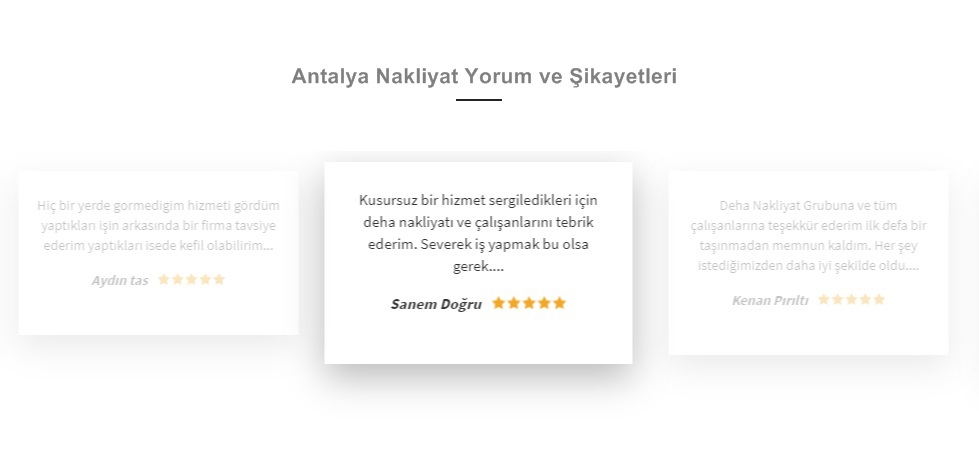 Antalya nakliyat müşteri yorum ve şikayetleri